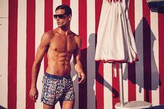 Fabio Mancini is back as the face of Zeybra Portofino 1962, for the Spring Summer 2016 Beachwear advertisement Italian supermodel was captured by fashion photographer Marco Tassinari. Grooming is work of Alenka Krupic. Production by Patrizia Pesci.