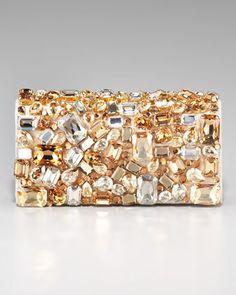 Prada Swarovski Crystal Stone Clutch