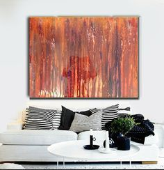 Large Canvas Art Abstract Giclee Print on by HalfBakedArt on Etsy