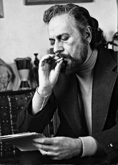 Giannis Ritsos, poet. His poems were made songs, music by Mikis Theodorakis, sung by the greatest greek singers and all the greek people as the themes of his poetry are problems of social injustice, equality, sacrifice, the pains of love, with more specifically Greek concerns such as the sorrows of exile and social fights.