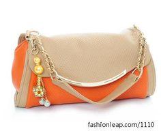 .orange clutch.