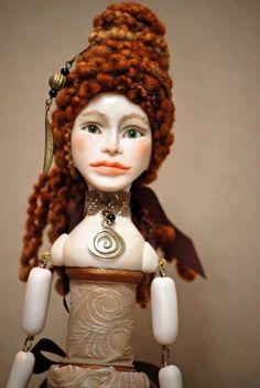Bronze/Gold/Brown Victorian Figure Art Doll by Honeysuckledolls on Etsy.