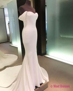 White Prom Dresses,Mermaid Prom Dress,White Prom Gown,Chiffon Prom Gowns,Elegant Evening Dress,Modest Evening Gowns,Sexy Party Gowns PD20186305
