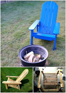 How you can build adorable chairs with pallets! Check out the collection of 17 DIY pallet chair ideas that are a borderline genius and are just remarkable! The list DIY pallet chair ideas will show you various outstanding. Kids Adirondack Chair, Adirondack Furniture, Wood Projects For Kids, Woodworking Projects For Kids, Project Ideas, Diy Furniture Chair, Pallet Furniture, Furniture Ideas, Recycled Pallets