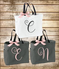 Bridesmaid Tote Bag Gold Rose Bridal Party Personalized Bags Gift Shower Pinterest