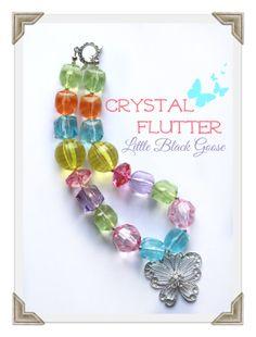 Crystal Flutter sparkly butterfly necklace by LittleBlackGoose