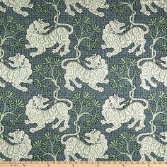 P Kaufmann Lion Dance Canvas Indigo - Fabric.com Fabric Painting, Canvas Fabric, Small Window Curtains, Euro Pillow Covers, Lion Dance, Toss Pillows, Amazon Art, Fabric Online, Viajes