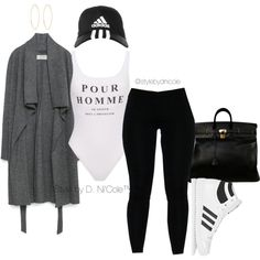 Untitled #3106 by stylebydnicole on Polyvore featuring Zara, adidas Originals, Hermès, Lana, adidas, women's clothing, women's fashion, women, female and woman
