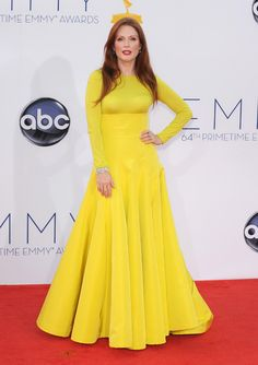 Julianne Moore.  Christian Dior de Alta Costura