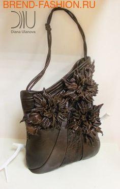 "Diana Ulanova СУМКА ""БУКЕТ МАКСИ"" 032 Orange Leather Diy Crafts, Leather Bags Handmade, Handmade Bags, Leather Craft, Fashion Handbags, Tote Handbags, Fashion Bags, Leather Crossbody Bag, Leather Purses"