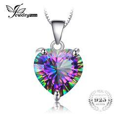Genuine Rainbow Fire Mystic Topaz Heart Pendant //Price: $11.38 & FREE Shipping //   #shopping
