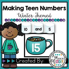 Winter Themed Making Teen NumbersStudents will show combinations of tens and ones to show teen numbers (10-19). Students will enjoy this winter themed center as they will use cups of cocoa and marshmallows to show their number combinations.A quick recording sheet is also provided for students to sho... Math Classroom, Kindergarten Math, Teaching Math, Maths, Classroom Ideas, Classroom Freebies, Elementary Math, Future Classroom, Fun Math