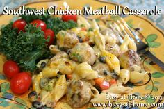 Southwest Chicken Meatball Casserole