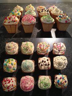 IJshoorn-cupcakes Cupcake Frosting Recipes, Fondant Cupcakes, Fun Cupcakes, Cupcake Cakes, School Cupcakes, Easter Cupcakes, Floral Wedding Cakes, Wedding Cakes With Cupcakes, School Birthday Snacks