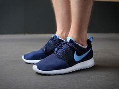 Roshe Embroidery511881 448 University Deep blue Netherlands Orange White Nike Roshe Run Womens