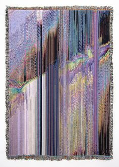 glitch textiles by NY based artist Philip Stearns