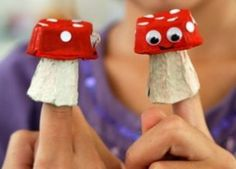 Tutorial : How to Make Mushroom Finger Puppets for Super Mario Craft Activities For Kids, Projects For Kids, Diy For Kids, Crafts For Kids, Weather Activities, Craft Ideas, Fun Arts And Crafts, Fall Crafts, Toddler Toilet