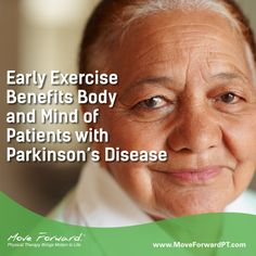 Exercise is known to offset many physical side effects of Parkinson's disease (PD). A recent pilot study suggests that early exercise also can reduce depression symptoms among individuals with PD.