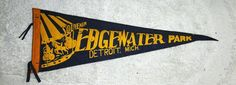 Vintage souvenir Michigan pennant, Edgewater Park, Detroit in Collectibles, Souvenirs & Travel Memorabilia, United States