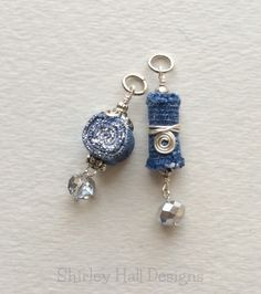 "Created for 2015 ""Denim & Crystal"" Charm Swap by Shirley Hall"