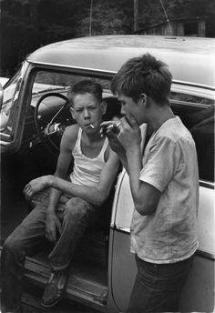 William Gale Gedney Two Boys Smoking , Eastern Kentucky 1964
