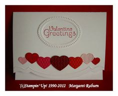 Fun card with SU! Fashionable Hearts embosslit die from Occasions 2012 mini