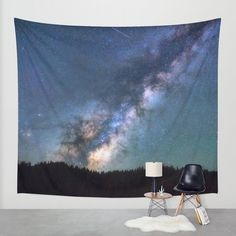 Milky Way Wall Tapestry by Gallery One | Society6