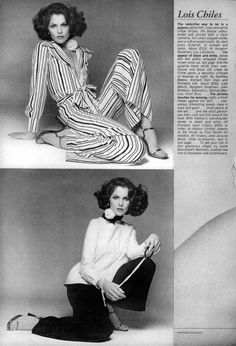 Vogue Editorial March 1974 - Lois Chiles by Francesco Scavullo