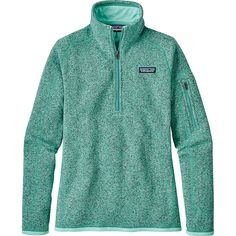Patagonia Womens Better Sweater 1/4 Zip - S - Bend Blue - Women's... ($99) ❤ liked on Polyvore featuring tops, blue, slimming tops, zip front top, patagonia, green jersey and blue top