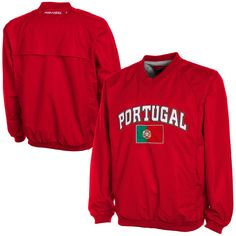 Portugal Wind Shell Pullover Jacket – Red - $38.99
