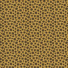 Honey/Black Bear Paws  685B-33 Cotton Fabric 1/2 by patitaylor