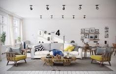 7 dreamy Scandinavian living rooms