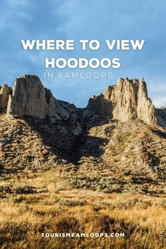 Kamloops is home to unique, geographical landscapes including sagebrush, grasslands, and hoodoos. Hike to see hoodoos formed by volcanic rock or go for a scenic drive to view silt bluffs from a glacial lake. Here are 3 spots where you can see the ancient formations around Kamloops. Volcanic Rock, Walking Tour, Public Art, Monument Valley, Landscapes, Hiking, Tours, Explore, Unique