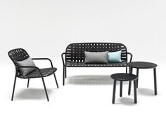 Yard lounge chair, sofa and tables by Stefan Diez for Emu
