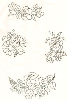 Floral Embroidery Pattern for Beginners - Craft & Patterns Chain Stitch Embroidery, Learn Embroidery, Hand Embroidery Patterns, Ribbon Embroidery, Embroidery Stitches, Embroidery Designs, Hungarian Embroidery, Indian Embroidery, Embroidery Techniques
