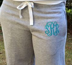 Hey, I found this really awesome Etsy listing at https://www.etsy.com/listing/162265147/monogram-gifts-monogram-sweatpants