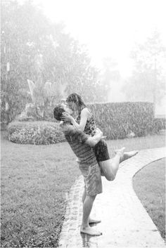 I want to kiss you in the pouring rain. But not if there's a tornado around. Because if you're going to be swept off your feet, I'm gonna be the one to do it. Although the tornado could probably do it, too.