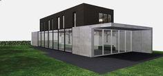 Mooie strakke architectuur met mooie materialen. Gevelsteen : STC Extra Langformaat Zwart