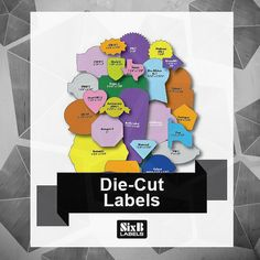 From Squares, Rectangles, Circles, Ovals to Special Shapes, SixB Labels is your set source for Die Cut Labels!