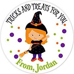 40 labels Circle Halloween Girl Witch Party Stickers, Personalized Labels, Custom Party Favor Tags, Choice of Size Halloween Labels, Halloween Stickers, Halloween Fun, Witch Party, Party Favor Tags, Personalized Stickers, Personalised Stickers, Halloween Signs