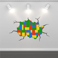 Lego Bricks Coloured Bricks Wall Art Sticker Mural Decal Graphic Boys Bedroom Wall Stickers by GlitterBlast on Etsy https://www.etsy.com/listing/204200595/lego-bricks-coloured-bricks-wall-art