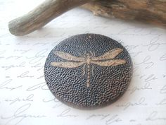 Dragonfly Pendant Wooden Dragonfly Pendant by AbitCuckoo on Etsy
