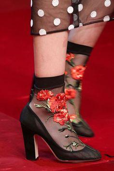 Dolce & Gabbana Spring 2015 sheer floral socks with pumps Dolce & Gabbana, Sock Shoes, Shoe Boots, Fashion Shoes, Fashion Accessories, Milan Fashion, Pumps, Italian Fashion, Mode Inspiration