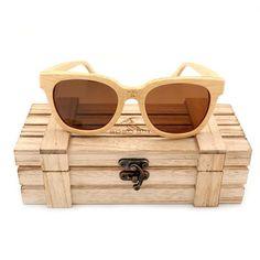 1da56affd22 Hazel Sepia Wayfarer Bamboo Wood Sunglasses  2 Variants