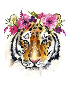 This listing is for an inkjet print of my original watercolor. All prints are printed on high-quality Epson Ultra Premium Presentation Paper (Matte) All prints are packaged in a cellophane sleeve and shipped in a rigid cardboard mailer to ensure quality Sharpie Drawings, Art Drawings, Sharpie Zeichnungen, Tiger Artwork, Diy Canvas Art, Tiger Print, Animal Paintings, Rock Art, Pet Portraits
