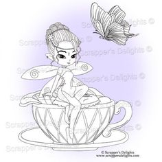 Many of you asked if I could sell some of the images within the digital colouring book  separately and in all formats so here they are.  1 Design 3 Images in total  JPG & PNG format  THIS IMAGE IS WITHIN THE  Fairies And Pixies V2 Colouring Book Digital Download http://scrappersdelights.com/store/index.php?main_page=product_info&cPath=211&products_id=968   Simply print and colour in as you would a traditional rubber stamp or leave clear Perfect for Stitching, Painting, Colouring and Tracing…