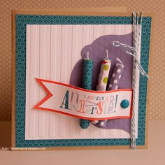 People are so creative! Use rolled designing paper to make birthday candles!