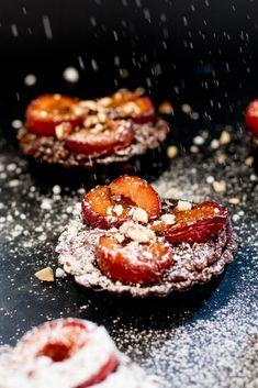 Roasted Plum & Chocolate Frangipane Tarts - The Brick Kitchen