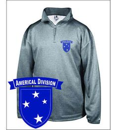 Army Americal 23rd Infantry Division Pro 1/4 zip Fleece Pullover.Features 100% Polyester moisture management fabric that will keep you cool, dry, and comfortable. Two Front Pockets. The imagery itself will never crack, fade, or peel. Designed, Printed & Sublimated in the USA -Fabric Imported.