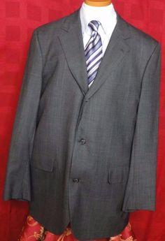 Brooks Brothers Men's Gray 3 Button Glen Plaid Wool Sport Coat. Size 42L #BrooksBrothers #ThreeButton